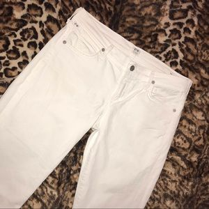 Citizens of Humanity White Straight leg Jeans